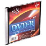 Диск DVD-R VS, 4,7 Gb, 16x, Slim Case. Арт. VSDVDRSL01